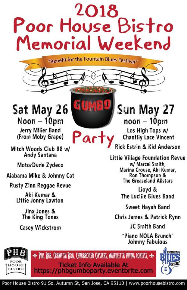 PHB's Memorial Weekend Gumbo Party